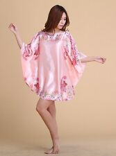 Oriental new floral Robes Pyjama Bat shirt Sleep Night DressNightwear for women