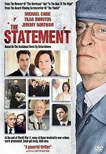 The Statement  DVD Michael Caine, Tilda Swinton, Jeremy Northam,