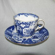 Royal Crown Derby China blue Mikado pattern cup and saucer