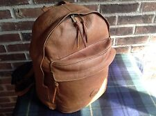 VINTAGE BRITISH TAN SUPPLE BASEBALL GLOVE LEATHER BACKPACK RUCKSACK BAG $R479