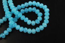 Bulk 200Ps Jade Lt Blue Crystal Glass Faceted Rondelle Bead 4mm Spacer Findings