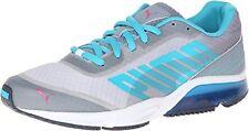 PUMA Men's Powertech Defier Fade Running Shoe,White/Tradewinds/Bluebird,11 M US