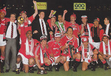 MAN UTD FOOTBALL TEAM PHOTO 1989-90 SEASON