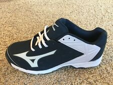 Mizuno Swagger 2 Low Navy/ White Metal Baseball Cleats Size 10