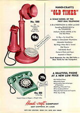 1959 ADVERT 3 PG Toy Phone Telephone Candlestick Desk COLOR Musical Mini