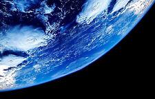 Encadrée Imprimer-courbure de Plante Terre de l'espace (photo Galaxy Univers Lune