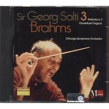 SIR GEORGE SOLTI Brahms Simphony no. 3 CD EDITORIALE