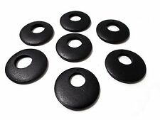 6pcs LARGE 50mm WOODEN Charm Pendant Big Flat Round Hoop Earring Necklace BLACK