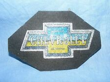 Vintage Old Sew On Patch Chevrolet Car Mechanic  Badge Racing Advertising Patch