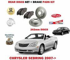 FOR CHRYSLER SEBRING 2.0 2.4 2.7 2007 > REAR BRAKE DISCS 262mm SET + PADS KIT