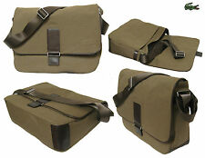 LACOSTE MESSENGER Shoulder Bags Uptown 4 Canvas / Leather Brown