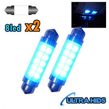 2x Blue Interior Courtesy Light LED F6 264 42mm Festoon Bulb boot Vauxhall Corsa