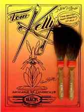 Andrew Mack Kelly-Mack Striper Pinstriping Brushes, Set of Two: Sizes #1 & #2