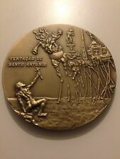 SALVADOR DALI ART signed MINT  medallion solid bronze rare!