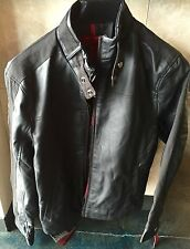 Black Alfani Leather Jacket Size Small Medium Moto (True religion Yeezy Balmain)
