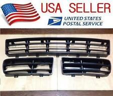 3Ps FRONT BUMPER LOWER SIDE VENTS CENTER GRILLE FOR VW GOLF MK4 1999-2005