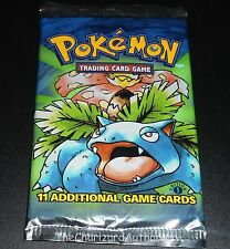 1x SEALED Base Set 1st Edition ERROR/MISPRINT Booster Pack ULTD Pokemon Cards V
