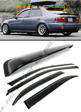92-95 HONDA CIVIC 4DR SEDAN EG EH JDM REAR ROOF WINDOW + SMOKE DOOR VISOR COMBO