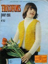 Revue de mode Catalogue de tricot - Tricotons pour eux n°92  - Modèles rétro -