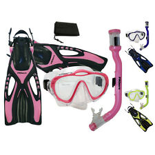 Girl Youth Kids Snorkeling PURGE Mask Snorkel Fins Set