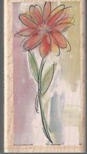 WATERCOLOR DAISY Mounted Rubber Stamp