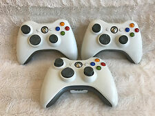 3x White Original Microsoft Official Xbox 360 Wireless Remote Controller Tested