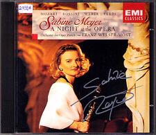 Sabine Meyer signed a Night at the Opera Franz Welser-Möst CD Verdi Danzi mosto