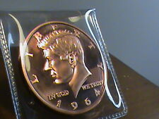 1964 Kennedy half dollar~ DESIGN~ 2014~ 1 OZ. copper round .999~