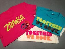 Zumba 3 Pack Together We Rock T-Shirts Tees One Size 3 Colors