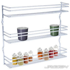 3 Tier Spice Rack Jar Herb Holder Kitchen Wall Cupboard Door Storage Organiser