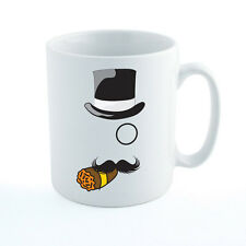 OLD ENGLISH GENTLEMAN - Top Hat / Mustache / Monocle / Cigar Themed Ceramic Mug