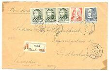 NEDERLAND 1939  REG. NAAR ZWEDEN  Z.FR. / PR EX