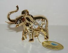 ELEPHANT with Spectra Swarovski Crystal Elements 24K