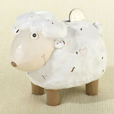 Little Lamb Resin Coin Bank Cute Baby Shower Gift