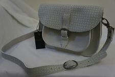 BNWT MAISON SCOTCH WHITE LEATHER PIONEER ADJUSTABLE CROSS BODY BAG SATCHEL