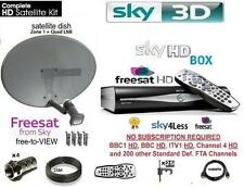 SKY HD FREESAT DRX890W WIFI BOX SKY RECEIVER BOX INCLUDING DISH LNB FULL KIT