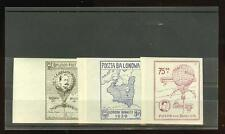 Poland: Balloons,  WWII:  Imperf. DeMuyter flight semi-off. stamps MNH, rare