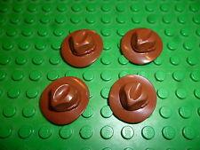4 Lego Hüte Indiana Jones Western Cowboy Hut Figuren Zubehör Minifig