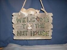 Squirrel Plaque  Nuthouse Welcome  HD37372   ABC