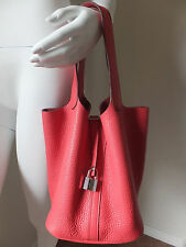**Hermes** Picotin Lock MM Bougainvillea Clemence leather bag purse handbag