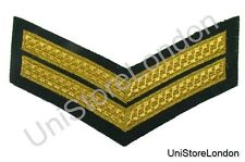 Chevron Corporal Gold on Green 150mm 2 Bars Wide R1393