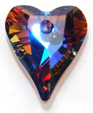 1 SWAROVSKI WILD HEART PENDANT 6240, CUSTOM COATED HELIO BLUE, 12 MM