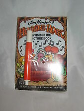 Jim Henson Fraggle Rock Magic Pen Invisible Ink Picture Book Vintage NEW HTF