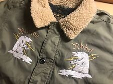 MSRP $1000 Neighborhood x Burton Embroidered B-10 Bomber Jacket Olive - Size M