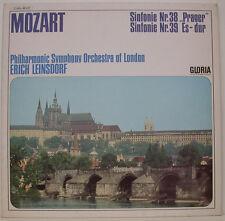 """MOZART SINFONIE NR. 38 PRAGER & NR. 39 ES-DUR ERICH LEINSDORF 12"""" LP (f467)"""