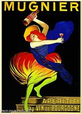 Mugnier Aperitif au Vin de Bourgogne Wine Vintage Advertisement Art Poster Print