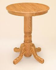 Pub Tables Bar Counter Height Wooden Round Pedestal