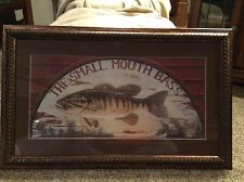The Smallmouth Bass Arnie Fisk Art Man Cave Fishing Cabin