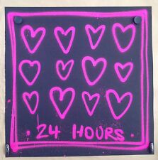 "RYCA RYAN CALLANAN rare graffiti original ""24 Hours Love""sign -invader/kaws/C215"