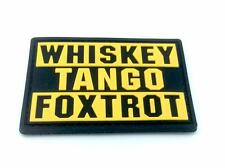 Whiskey Tango Foxtrot WTF Yellow PVC Airsoft Paintball Patch